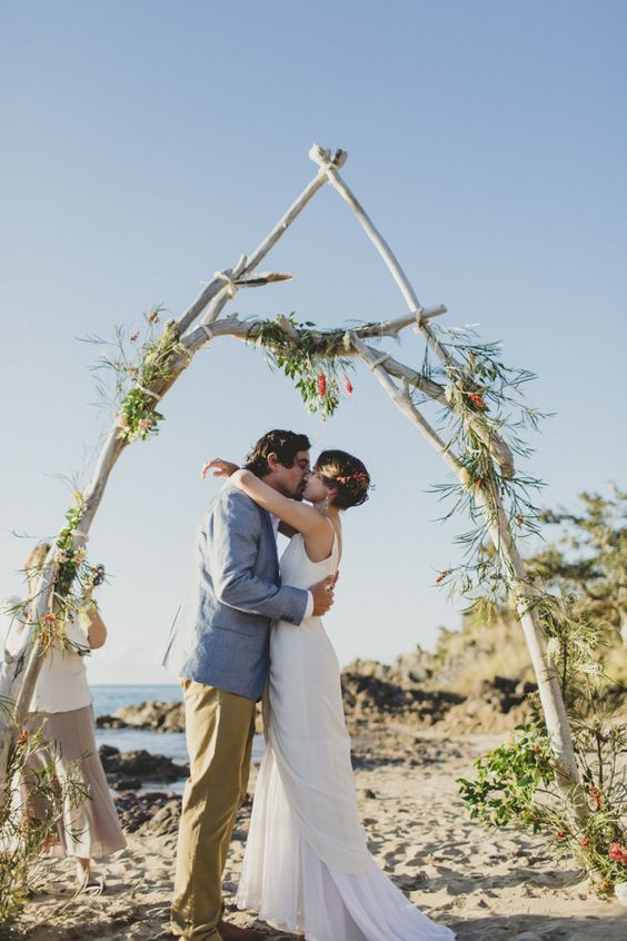 A Boho-wedding On The Beach
